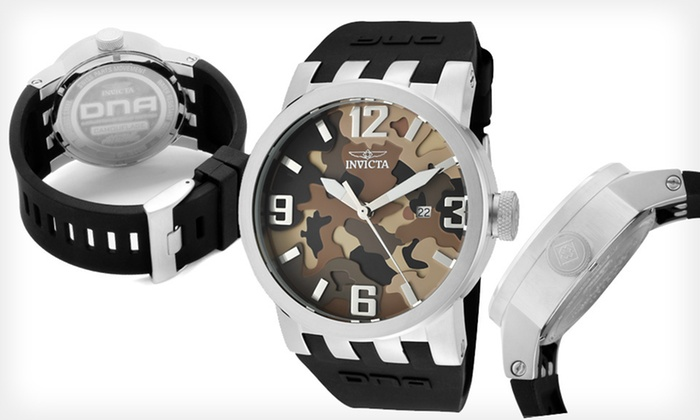 Invicta Men's Camouflage Watch: $54.99 for an Invicta Men's DNA Camo Watch ($895 List Price). Two Colors Available. Free Shipping and Free Returns.