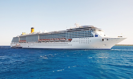 groupon daily deal - 7-Night Eastern Mediterranean Cruise from Costa Cruises departing 9/18/15. Price per Person Based on Double Occupancy.
