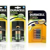 Duracell Charger Pack with Rechargeable AA and AAA Batteries