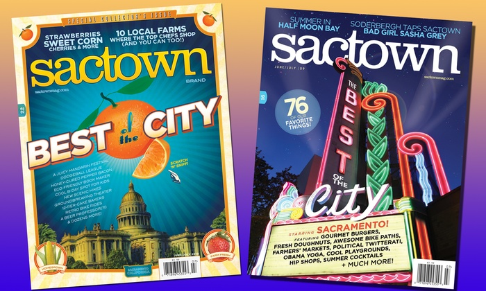 Sactown Magazine: $12 for Three One-Year Gift Subscriptions to Sactown Magazine ($36 Value)