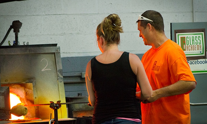 Glass Academy - Dearborn: One 2.5-Hour Glassblowing and Decorative Glass Leaf Class for One at Glass Academy (48% Off)