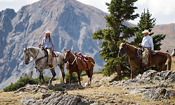 Breckenridge Stables - Breckenridge: Trail Ride for Two or Four with Optional Dinner at Breckenridge Stables (Up to 48% Off)