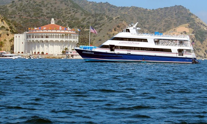 "Catalina Flyer - Balboa Pavilion: $37 for a Round-Trip Boat Ride to Catalina Island on the ""Catalina Flyer"" in 2014 (Up to $70 Value)"
