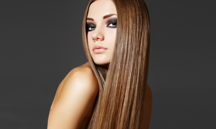 Haircut with Highlights or Color, or Conditioning Package at Salon Fuzion (Up to 61% Off)