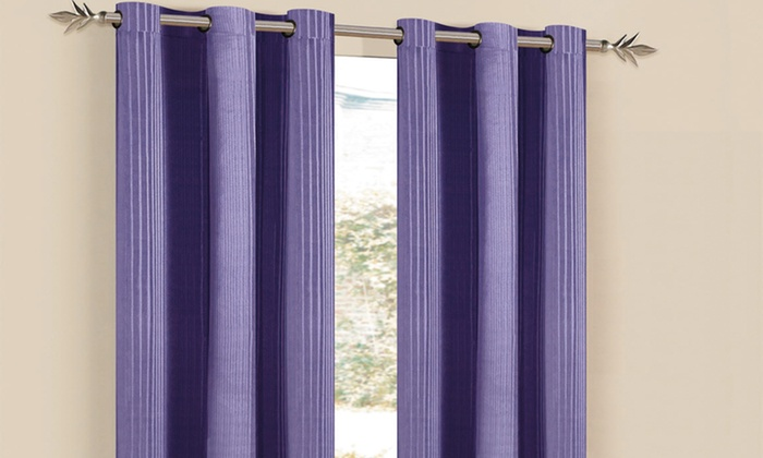 Set of Modern Window Panels: Duck River Textile Window Panels. Multiple Styles and Colors Available.