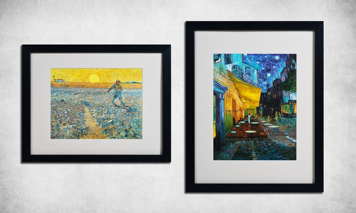 """16""""x20"""" Framed Van Gogh Landscapes"""