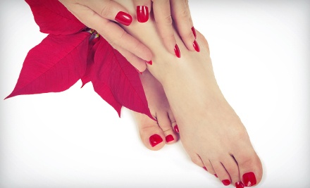 Regular Mani-Pedi or Shellac Mani-Pedi or Manicure at Pampering with Elegance Nail Spa (Up to 53% Off)