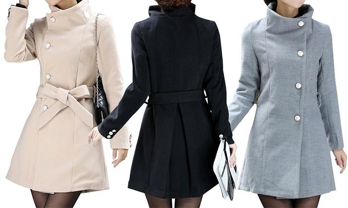 56238550ff1bd Abrigo de lana para mujer