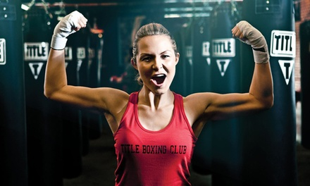One Week of Boxing and Kickboxing Classes for One with Loaner Hand Wraps & Gloves at Title Boxing Club (87% Off)