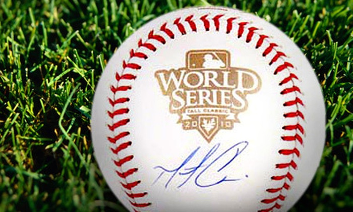 Powers Collectibles: $99 for a 2010 World Series Baseball Autographed by Matt Cain from Powers Collectibles ($198.95 Value)