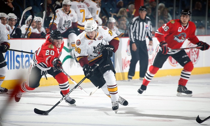 Chicago Wolves - Allstate Arena: Chicago Wolves Hockey Game at Allstate Arena on March 16 or 26, or April 1 or 6 (Up to 38% Off)