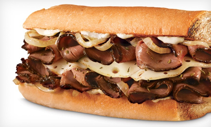 Quiznos - Multiple Locations: Regular or Large Sandwich Meal with Drink, or $ 5 for $ 10 Worth of Fresh Sandwiches, Flatbreads, and Salads at Quiznos