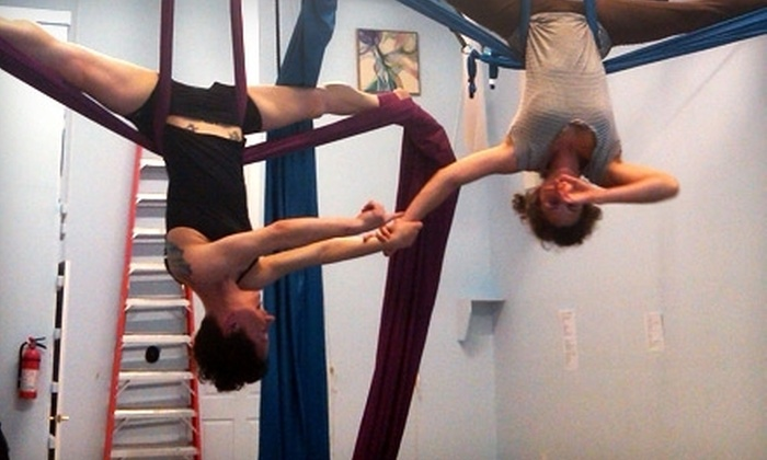 Aerial Space - Asheville: Two Aerial-Arts Classes for One or Two Students at Aerial Space (53% Off)