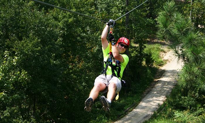 Kersey Valley Zip Line - Archdale: $45 for a Zipline Tour for One at Kersey Valley Zip Line ($89 Value)