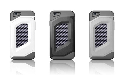 iPM Luxury Fashion Carbon-Fiber Trim Double-Protection Shell for Apple iPhone 6 with 4.7