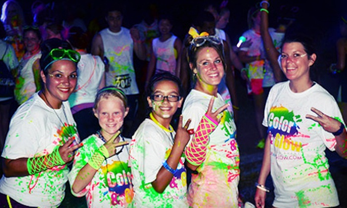 Color and Glow Run - Concord: $25 for 5K Race Entry with a T-Shirt and Glow Gear at Color and Glow Run on Saturday, November 9 (Up to $50 Value)
