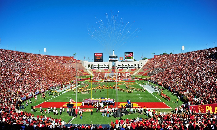 USC Men's Football Home Opener vs. Arkansas State - LA Memorial Coliseum: USC Trojans Football Season Opener Against Arkansas State at the LA Memorial Coliseum on Saturday September 5 (51% Off)