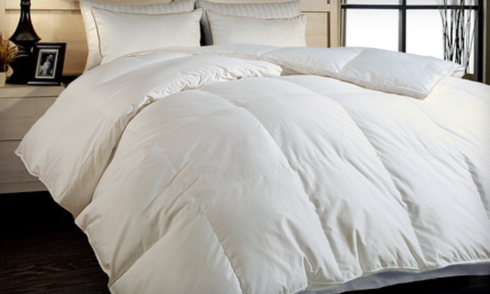 Royal Luxe Down-Alternative Comforter: $89 for a Royal Luxe 400Thread-Count Cotton Down-Alternative Comforter in Twin, Queen, or King ($229.99 List Price)