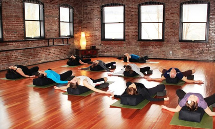 Escape to Yoga - Sherwood: 6- or 12-Class Pass, or 30-Day Unlimited-Class Pass at Escape to Yoga (Up to 74% Off)