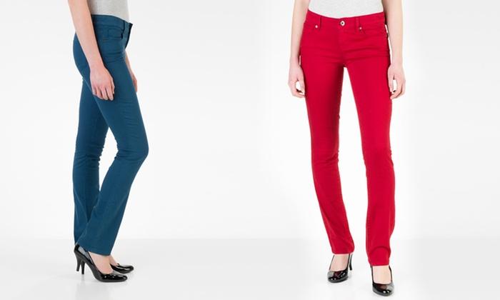 Isaac Mizrahi Women's Colored Jeans: Isaac Mizrahi Women's Emma Slim Straight-Leg or Samantha Skinny Jean. Multiple Colors. Free Returns.
