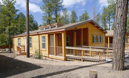groupon daily deal - 2-Night Stay for Six in Two-Bedroom Cabin at PVC at The Roundhouse Resort in Pinetop, AZ. Combine Up to 4 Nights.