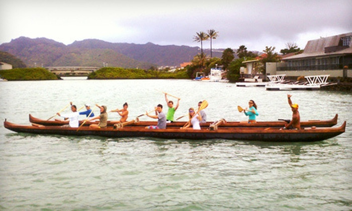 Hawaiian Surf Adventures - Hawaii Kai: Two-Hour Outrigger-Canoe Lesson and Tour for One, Two, or Four from Hawaiian Surf Adventures (Up to 53% Off)