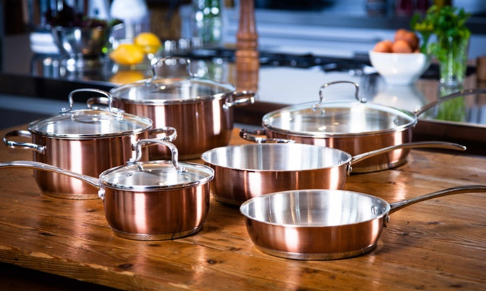 Kevin Dundon 10-Piece Stainless-Steel Cookware Set: $119.99 for a Kevin Dundon 10-Piece Stainless-Steel Cookware Set ($400 List Price). Free Shipping and Returns.