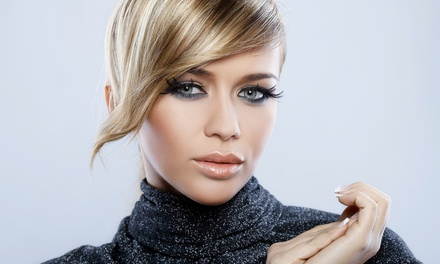Haircut and Style with Option of Partial Highlights or Single-Process Color at Aqua Salon (Up to 52% Off)