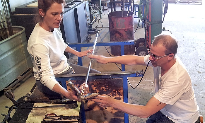 Glass-Blowing Class - CH Glassworks Studio: Blow Glass and Shape a Paperweight with Professional Glass Artists