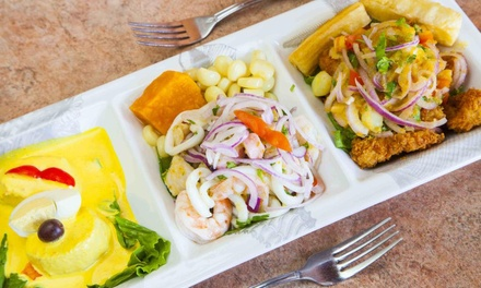 Peruvian Dinner Cuisine for Two, or Take-Out at Ceviche and Grille (Up to 33% Off)