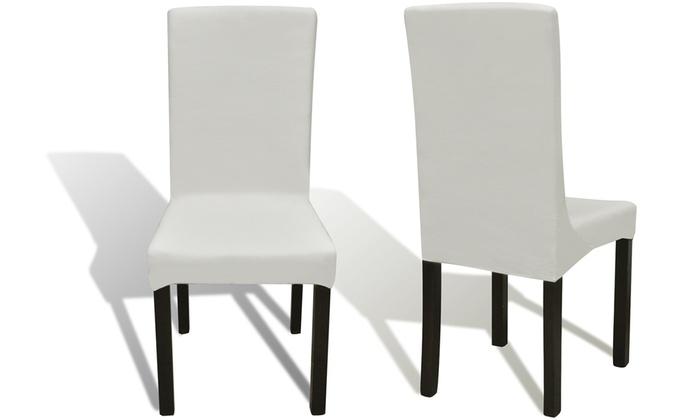 6 housses de chaises extensibles groupon. Black Bedroom Furniture Sets. Home Design Ideas