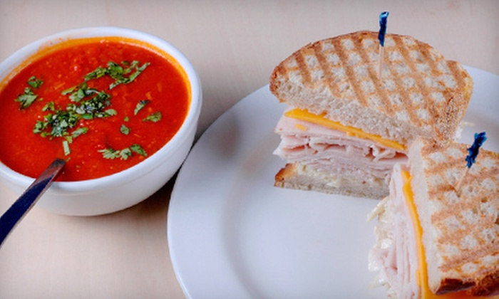 Liquid Lunch - Multiple Locations: Fresh Soups, Sandwiches, and Café Fare at Liquid Lunch (Half Off). Two Options Available.