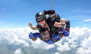 Holiday Tandem Skydive Photo Shoot Package For One, Two, Or Four At Skydive Spaceland (up To 46% Off)
