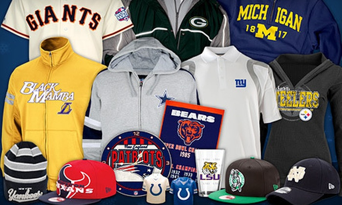 SportsFreak365: College and Pro-Sports Apparel and Accessories with Free Shipping from SportsFreak365 (Up to 54% Off)