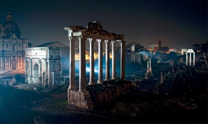 SOTTERRANEI DI ROMA: Visita notturna ai Fori Imperiali illuminati per una persona da Sotterranei di Roma (sconto 45%)
