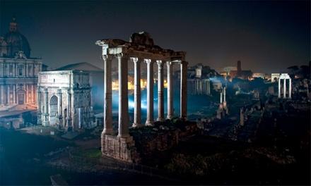 Visita notturna ai Fori Imperiali illuminati per una persona da Sotterranei di Roma (sconto 45%)