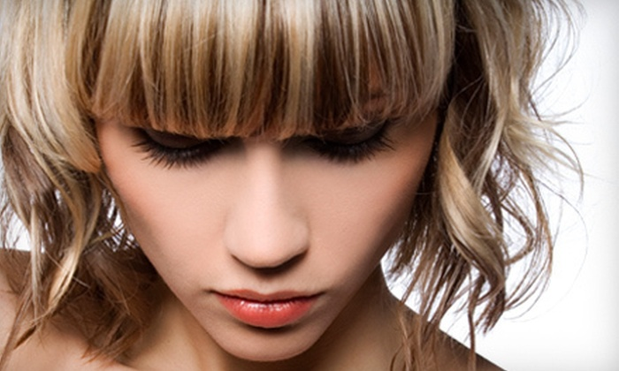 be SPAcific Salon and Spa - Rockford: $49 for a Haircut, Style, Partial Highlights, and Deep-Conditioning Treatment at be SPAcific Salon and Spa ($120 Value)