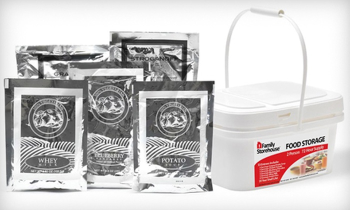 Family Storehouse: One or Two 72-Hour Emergency Meal Kits for Two People with Shipping from Family Storehouse (Up to 53% Off)