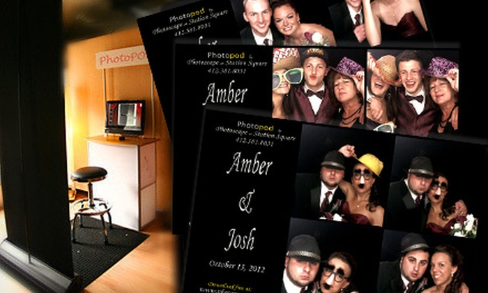 """Photoscape - Pittsburgh: Three-Hour Photo-Booth-Rental Package with Attendant, CD, and Optional 4""""x6"""" Prints from Photoscape (Up to 56% Off)"""