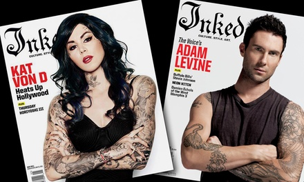 """Tattoo Magazine Subscription Packages from """"Inked Magazine"""" (50% Off). Six Options Available."""