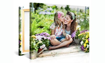 "groupon daily deal - One 12""x8"", 16""x12"", 20""x16"" Canvas Portrait or Two 20""x16"" Canvas Portraits from Picanova (Up to 74% Off)"