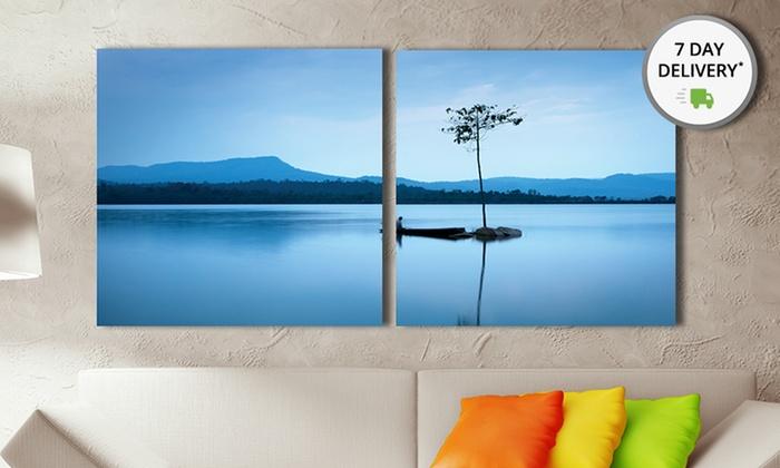 Landscape Art Print Diptychs: Landscape Art Print Diptychs. Multiple Styles Available. Free Returns.