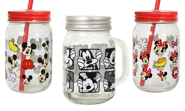 Disney Mason Jar Drinking Glasses (2 Pack) ...