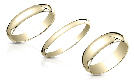 14K Gold-Plated Sterling Silver Bands for Men and Women from $9.99–$11.99