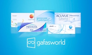 Gafasworld: Paga 9,95 € por un descuento de 30 € en lentillas de contacto en Gafasworld