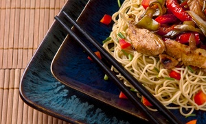 Shanghai Gardens Restaurant: Asian Dinner for Two, Four, or Five  at Shanghai Gardens (55% Off). Four Options Available.