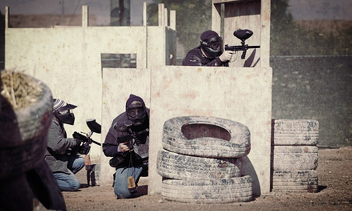 Las Vegas Premier Paintball - Summerlin: Paintball for 2 or 4 with Gear or Kids' Paintball Party for Up to 10 at Las Vegas Premier Paintball (Up to 57% Off)