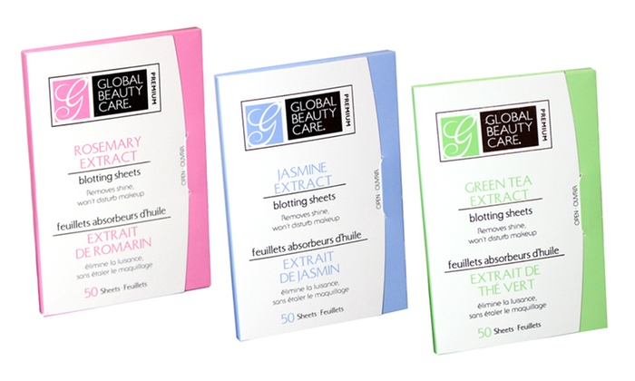 2-Pack of Global Beauty Care Blotting Sheets: 2-Pack of Global Beauty Care Blotting Sheets. Multiple Styles Available.