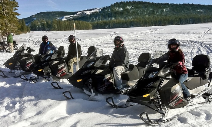 Eagle Ridge Snowmobile - East Sierra: Two-Hour Snowmobile Tour for One or Two from Eagle Ridge Snowmobile (Up to 30% Off). Four Options Available.