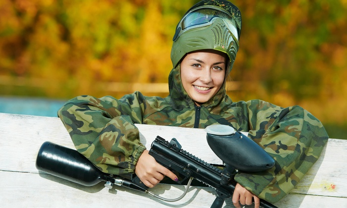 PaintballTickets.com - Multiple Locations: All-Day Paintball Outing for 4, 6, or 12 with Equipment and Marker Rental from PaintballTickets.com (Up to 77% Off)
